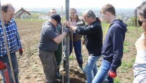 Akademicy budowali rusztowania w Winnicy Jasło