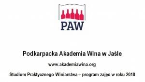 Harmonogram zajęć Studium Praktycznego Winiarstwa 2018